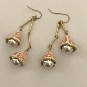 Nwot Tory Burch pearl bud earrings